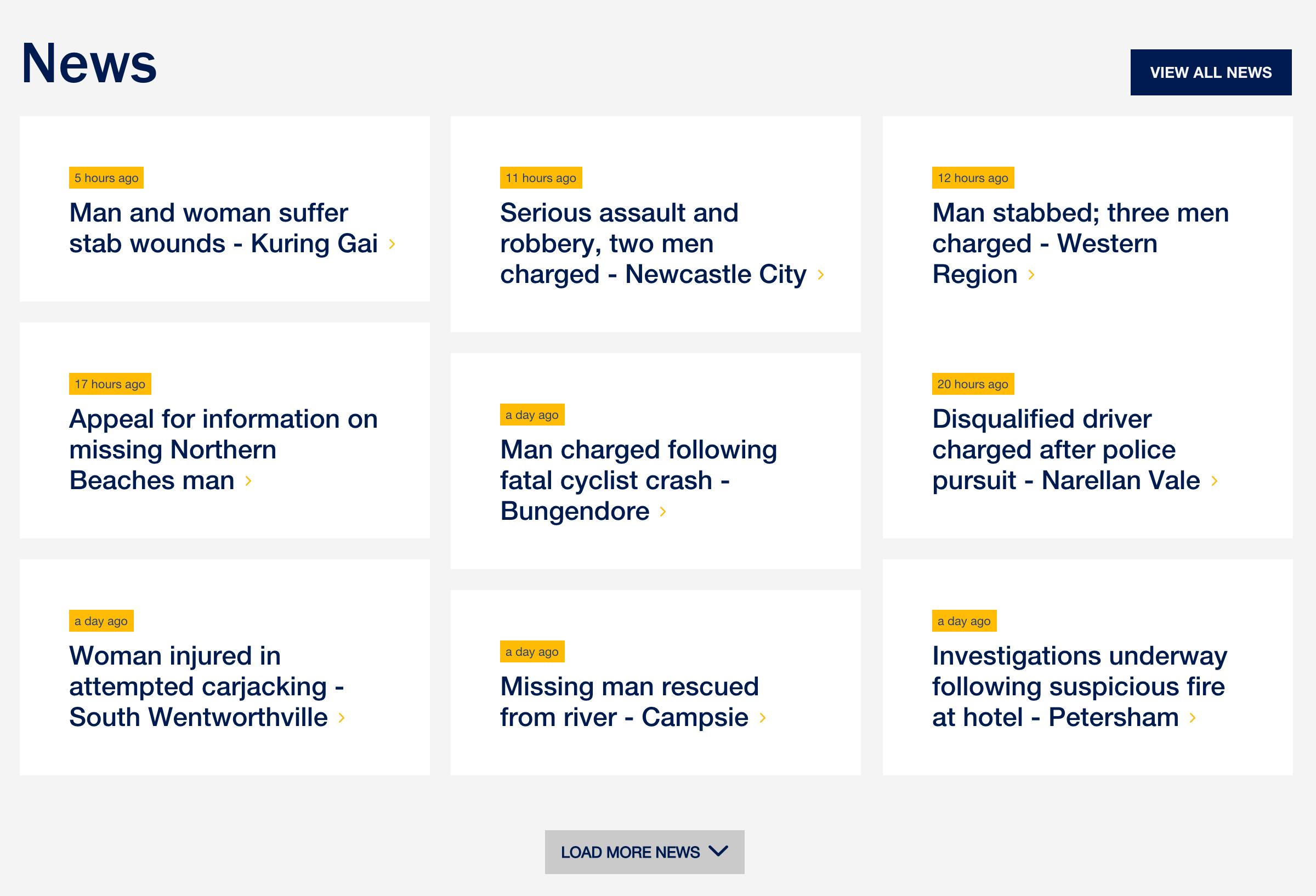 NSW Police – News