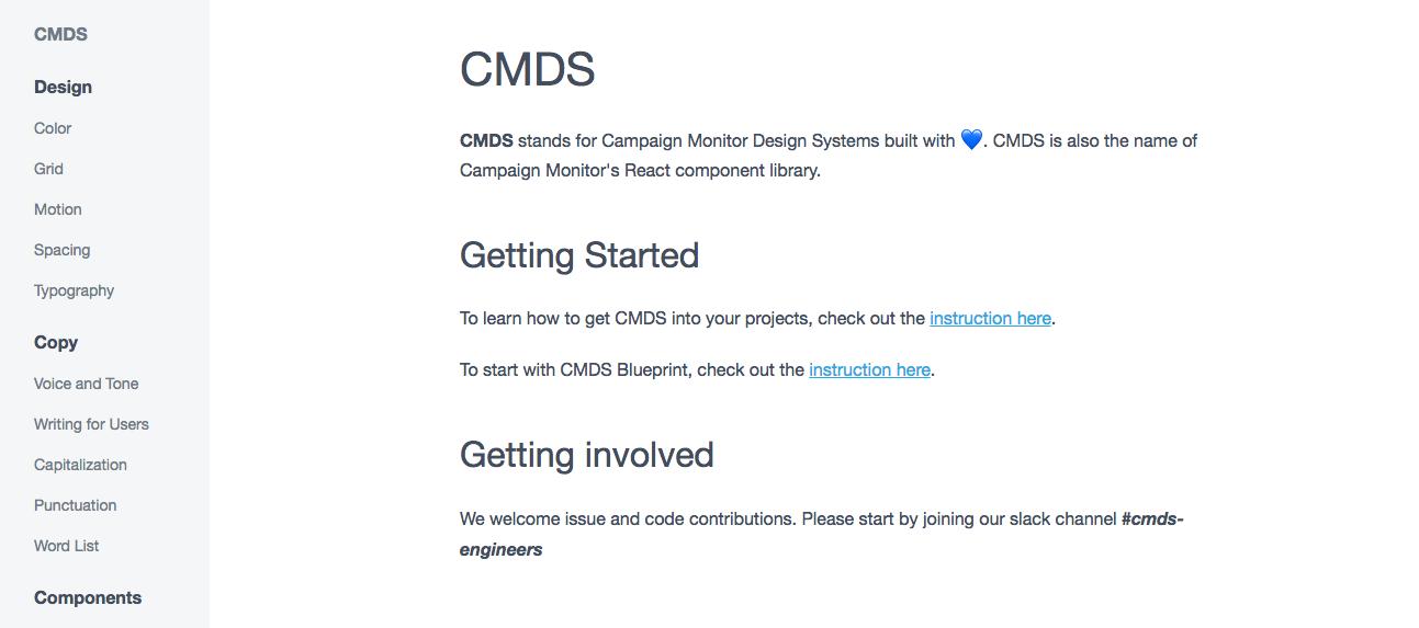 CMDS – Intro